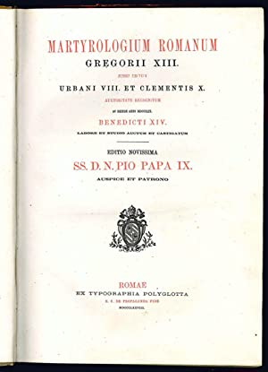 Martyrologium romanum Gregorii XIII. Jussu editum Urbani: Gregorio XIII