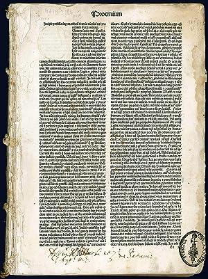Biblia latina (cum postillis Nicolai de Lyra: LYRA, Nicolau de