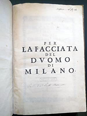 Per la facciata del Duomo di Milano: CASTELLI, Francesco (1615-1692)