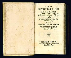 Magni Hippocratis Coi Aphorismi a Leoniceno versi,: Hippocrates