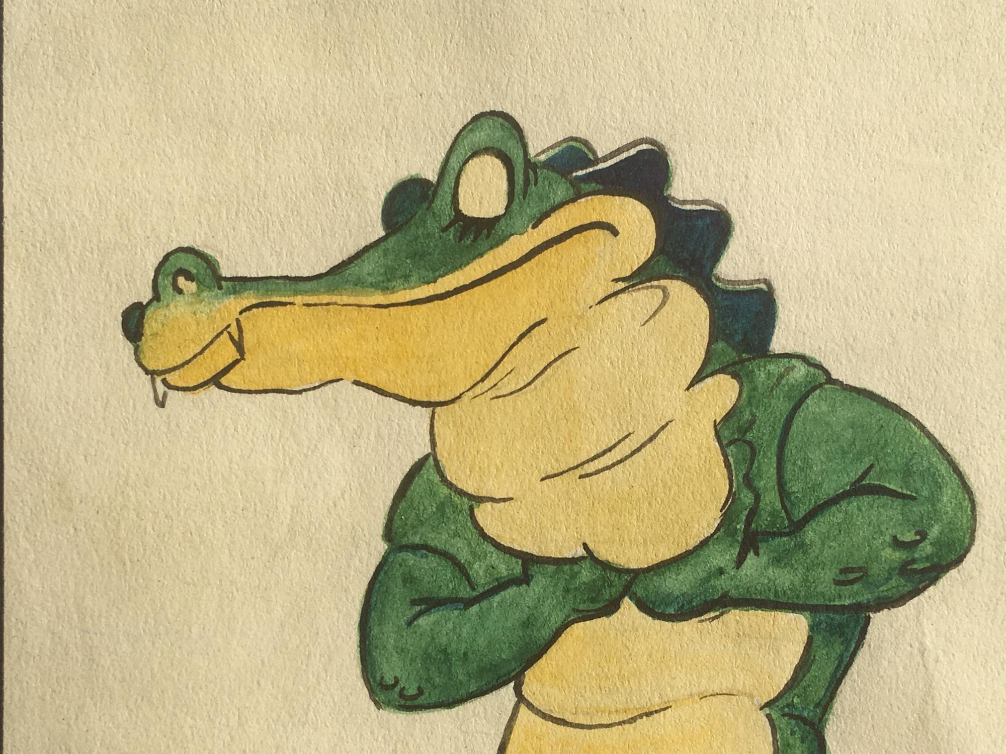 Disney Original Book Art Of Ben Ali Gator From Fantasia No Binding
