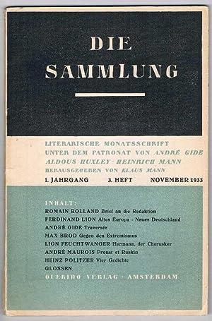 Die Sammlung. Literarische Monatsschrift unter dem Patronat: Mann, Klaus (Hg.)