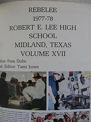 Rebelee 1978 Yearbook, Robert E Lee, High School, Midland, Texas