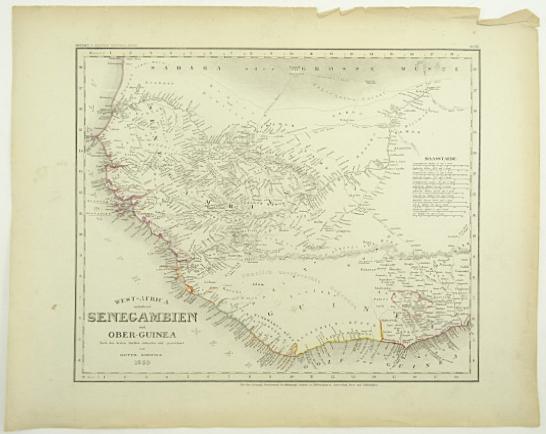 West-Africa enthaltend Senegambien und Ober-Guinea. Nach den