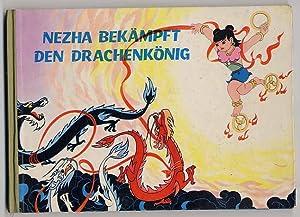 Nezha bekämpft den Drachenkönig. Nach dem gleichnamigen: Hongen, Li: