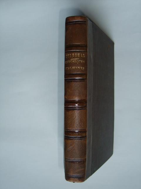 Chroniques italiennes, [BEYLE (Henri)] STENDHAL, Fine Hardcover