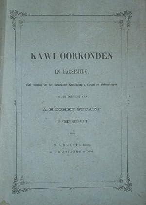 Kawi Oorkonden in Facsimile, voor rekening van: COHEN STUART (A.B.),