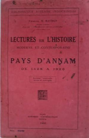 Lectures sur l'histoire moderne et contemporaine du: MAYBON (Charles B.)