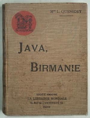Java, Birmanie, souvenirs de voyage,: QUENEDEY (L.),