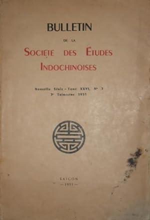 Bulletin de la société des études indochinoises, nouvelle série, tome ...