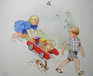 Original Watercolour Artwork by Rene Cloke for: Burchell, Kate (editor)