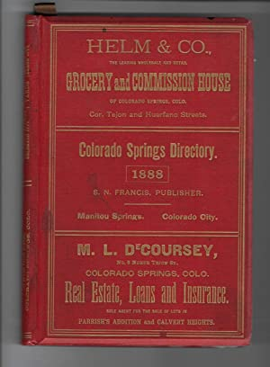 DIRECTORY OF COLORADO SPRINGS, MANITOU SPRINGS, AND COLORADO CITY: S. N. Francis