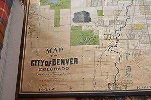 ROLLANDET'S MAP OF THE CITY OF DENVER, 1898: Edward Rollandet, compiler, draughtsman, ...