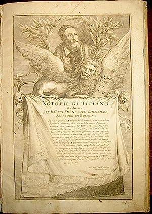 Notomie di Titiano: Vesalius. Tiziano, Bonavera
