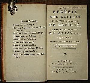 Recueil des lettres de Madame la Marquise: Sévigné Madame de