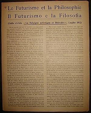 Le Futurisme et la Philosophie. Il Futurismo: Joly Auguste