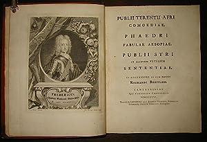 Publii Terentii Afri Comoediae, Phaedri Fabulae Aesopiae,: Terenzio (Terentius) -