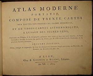 Atlas moderne portatif, composé de trente cartes: Bertholon M.