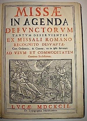 Missae in agenda defunctorum tantum deservientes ex