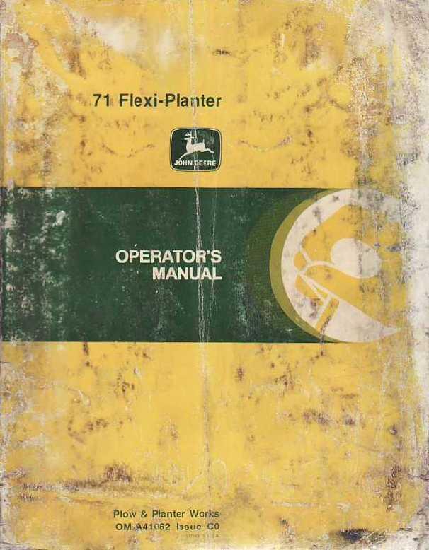 71 Flexi Planter Operator S Manual