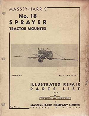 Massey-Harris No. 18 Sprayer Tractor Mounted