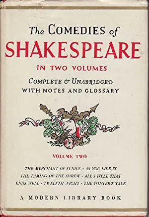 The Comedies of Shakespeare Volume Two MODERN LIBRARY # 5