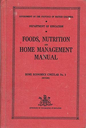 Food, Nutrition and Home Management Manual Home Economics Circular No. 1
