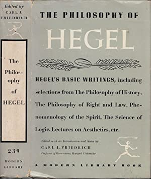 The Philosophy of Hegel MODERN LIBRARY # 239