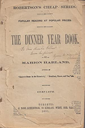 The Dinner Year Book ROBERTSON'S CHEAP SERIES