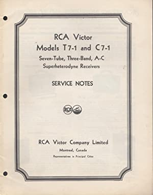 RCA Victor Models T 7-1 and C: RCA Victor Staff