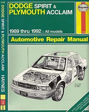 plymouth acclaim 1993 workshop service repair manual