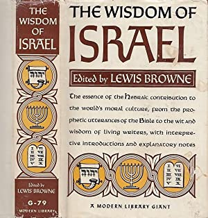 The Wisdom Of Israel An Anthology MODERN LIBRARY G-79