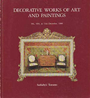 Decorative Works of Art and Paintings December 9th, 10th, & 11th, 1980 Sale 39