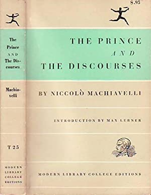 The Prince and the Discourses MODERN LIBRARY T25