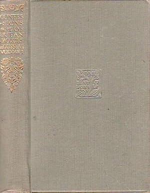Confessions of Jean Jacques Rousseau Volume One: Rousseau, Jean Jacques