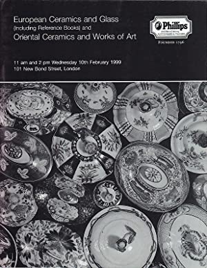 European Ceramics and Glass Including Reference Books and Oriental Ceramics and Works of Art Wedn...