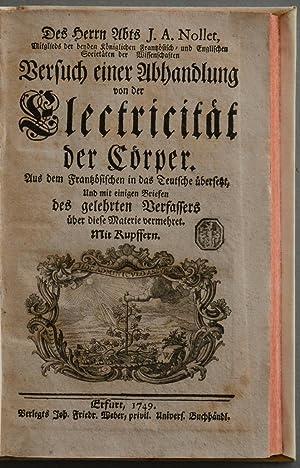Versuch einer Abhandlung von der Electrizität der Cörper.: Aus dem Französischen in ...