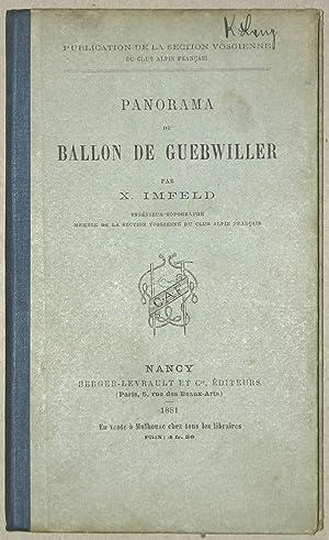 Panorama du Ballon de Cuebwiller ou de Soultz (1426 metres).: VOGESEN - IMFELD, X.