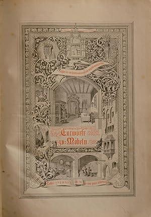 Entwürfe zu gothischen Möbeln.: MÖBEL - UNGEWITTER, G(eorg) G(ottlob).
