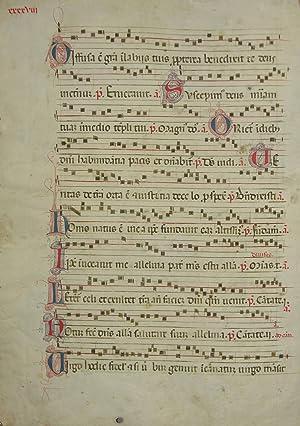 Antiphonarblatt mit Initiale D(ominus dixit ad me filius meus es tu ego hodie genui te. 21. ...