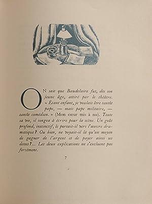 Manoel. Fragments inédits d'un drame en vers.: BAUDELAIRE, Charles.