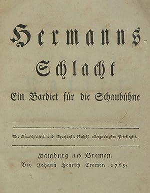 Hermanns-Schlacht. Ein Bardiet für die Schaubühne.: KLOPSTOCK, Friedrich Gottlieb).