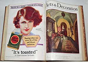 ARTS & DECORATION May - August 1930. 4 issues bound in 1 vol.