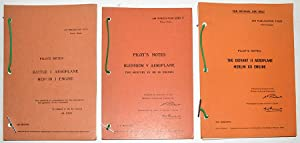 AIR MINISTRY PILOT'S NOTES. Set of 3 facsimile booklets.