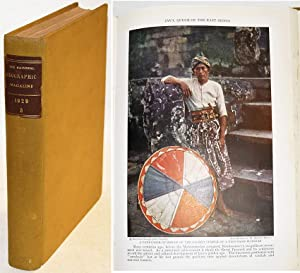 NATIONAL GEOGRAPHIC MAGAZINE, VOLUME LVI : July-Sept. 1929. Nr 1-2-3 bound in 1 volume.