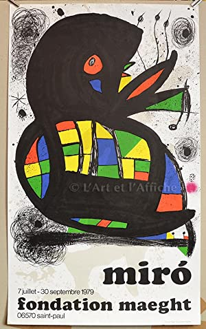 MIRO Fondation MAEGHT 7 juillet - 30 septembre 1979, Affiche lithographique originale.