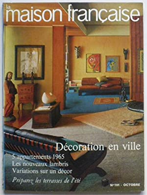 LA MAISON FRANCAISE n° 191 octobre 1965 : Décoration en ville, 5 appartements 1965.