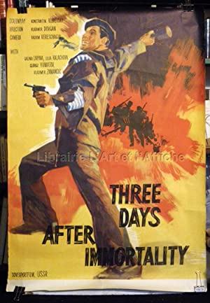 THREE DAYS AFTER THE IMMORTALITY. Original soviet film poster / affiche originale russe 1963