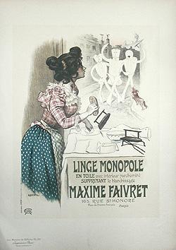 LINGE MONOPOLE - Pl. 195. Maîtres de: ROEDEL