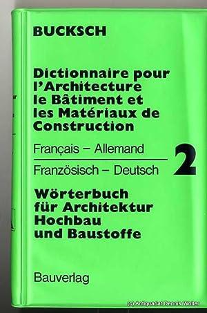 Dictionnaire de bucksch abebooks for Dictionnaire architecture et construction
